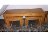 NEXT solid wood long john tables
