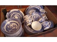 'Old Willow' Pattern Dinner Set