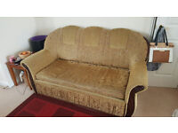 3 seater Sofabed with storage and armchair with storage
