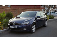 Volkswagen Golf 2.0 GT TDI (140) - 2010/10 Reg MK6 + RARE SHADOW BLUE + FSH + DIESEL + 1 YEARS MOT