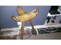 Stool. Birthing stool