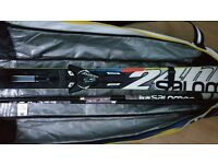 Salomon 24hrs MAX Skis 170cm (2015) w/ Salomon ZIZ bindings and poles and a ski bag