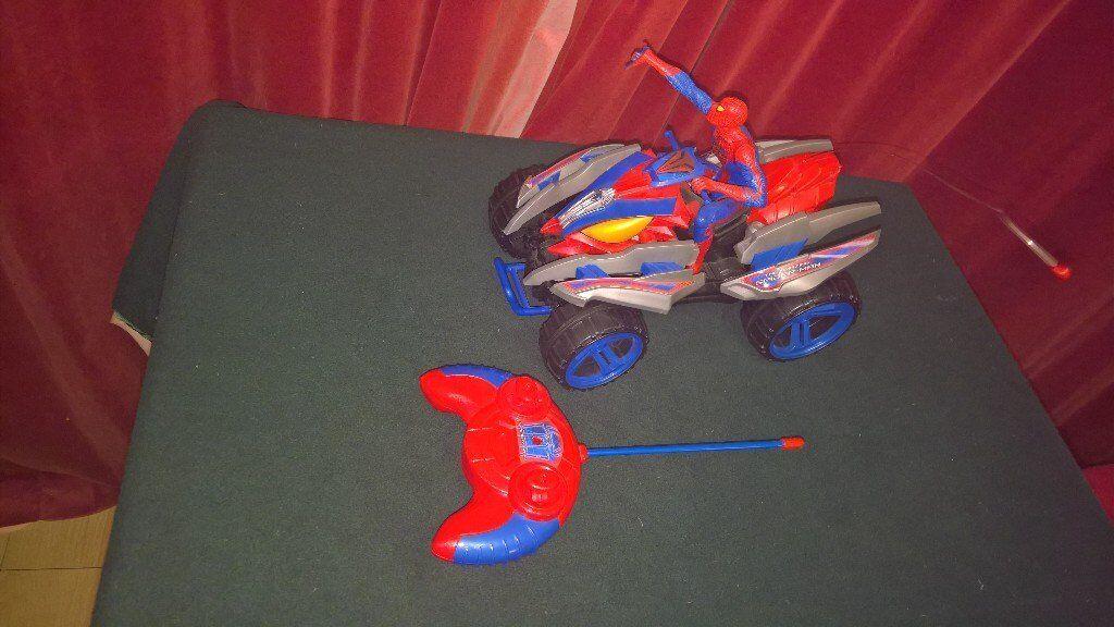 Remote controlled spiderman quad bike