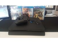 PS4 with all accessories and 3 games in original box - all fully functional