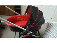 icandy cherry carrycot and pushchair