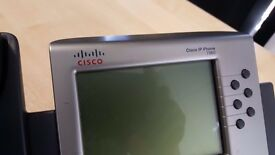 Cisco 7960G CP-7960G Desktop Business VoIP IP Display Phone Telephone With Stand