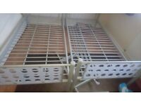 Metal bunk beds or two singles vgc £90 ono