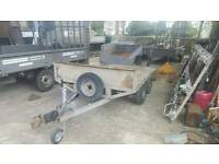 bateson 8ftx5ft platform trailer 2000kgs braked with ramps no vat