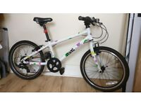 Frog 55 Child's bike. 2 years old, white with polka dots. One careful girl owner
