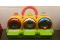 ELC magnetic emergency vehicles carry along with garage, sounds & lights.