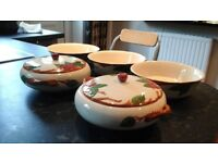 Hand painted 5 piece tableware