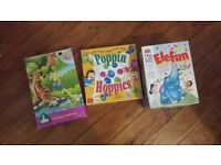 FAMILY BOARD GAME 3 YR + ELEFUN AND POPPIN HOPPIES