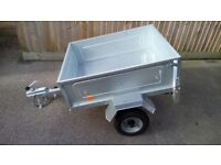 SMALL TRAILER WITH SPARE WHEEL AND COVER