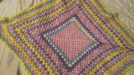Ready to post! XL crotchet shawl! Perfect for winter