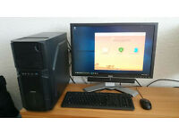 "⭐️ ZALMAN Z1 GAMING PC, i5 2500K, 16GB RAM, 128GB SSD, WINDOWS 10 PRO, 24"" SCREEN ⭐️"