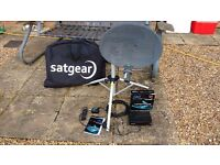 Portable Satellite TV dish and receiver