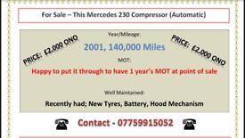 Mercedes 230 Compressor