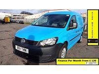 Finance-£120 P/M, VW-Volkswagen Caddy Maxi C20 1.9 TDI Lwb Van - Air Con- 1 Owner ,76K ,FSH- 1YR MOT