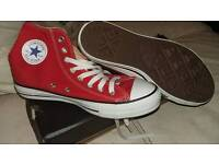Unisex red converse