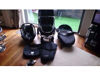 Icandy pram and stroller, full travel system including maxi cosy car seat