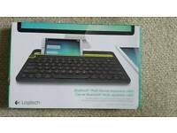 Logitech K480 Multi Device Bluetooth Keyboard for Smartphone and Tablet (QWERTY) - Black