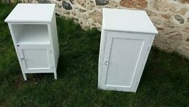 Two lovely vintage painted bedside cabinets