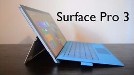 Microsoft Surface Pro 3 / i5 core 2.9GHz /2k Screen /128GB ssd / Keyboard incuded / win10 /tablet