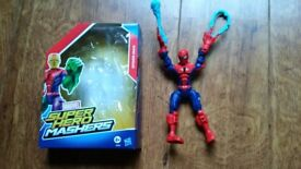 4 Superhero Mashers for sale: Spider man, Electro, Iron Man, Skarr.