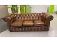 Stunning 3 seater leather chesterfield sofa £595
