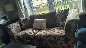 2/3 seater sofa dfs floral