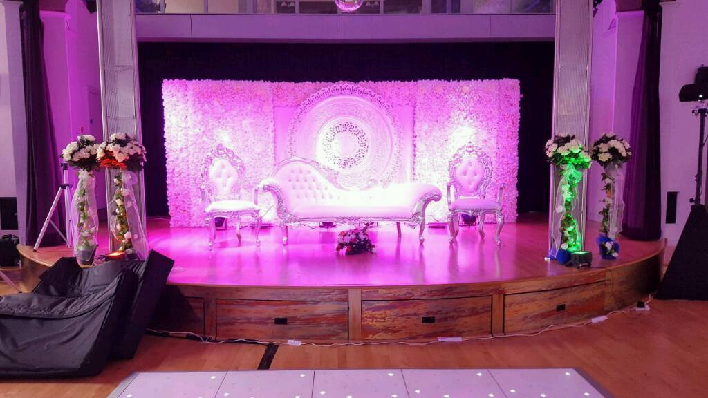 Mehndi Stage Hire : Wedding & mehndi stages from £250 house lighting for hire in