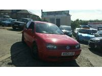 2003 52 VW GOLF 1.9 GT TDI ANNIVERSARY MILANO RED 6 SPEED MANUAL