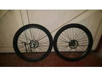 Mountain Bike wheels 27.5inch 650b type with disc brakes gear casstte good condition