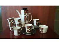 1960 vintage J & G Meakin coffee set