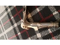 skeleton head walking stick full metal in excellent condition to day