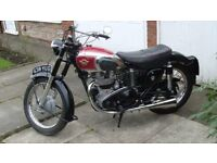 1954 matchless 550cc twin classic motorcycle
