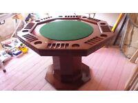 Handmade Oak Poker Table