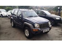 2002 / 02 PLATE Jeep Cherokee 2.5 CRD Diesel Sport Station Wagon 4x4 5dr