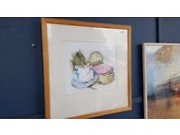 "Large Print of Hunca Munca from Beatrix Potter – ""The Tale of Two Bad Mice"""