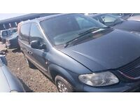 2004 CHRYSLER VOYAGER CRD SE, 2.5 DIESEL, BREAKING FOR PARTS ONLY, POSTAGE AVAILABLE NATIONWIDE