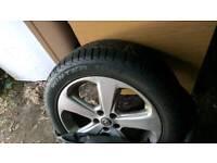 Vauxhall Mokka four 18 inch original alloy wheels with new winter tyres