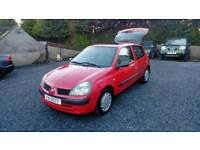 04 Renault Clio 1.2 3 door Only 11960 Mls One Owner low ins ( can be viewed inside Anytime