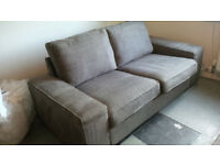Ikea KIVIK suite - sofa, chair and footstool in Tullinge Grey/Brown