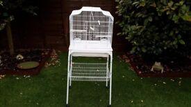 Beautiful white bird cage
