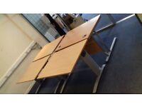 Office Desks x 9 + Wheelie Chairs x 20+