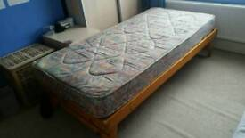 Single Trundle bed and mattress