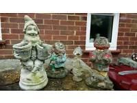 Garden gnomes.