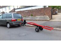 car recovery towing trailer dolly transporter lifts car up from road easy to use