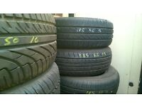 PART WORN TYRES LOTS OF SIZES