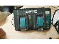 Makita double port lithium charger